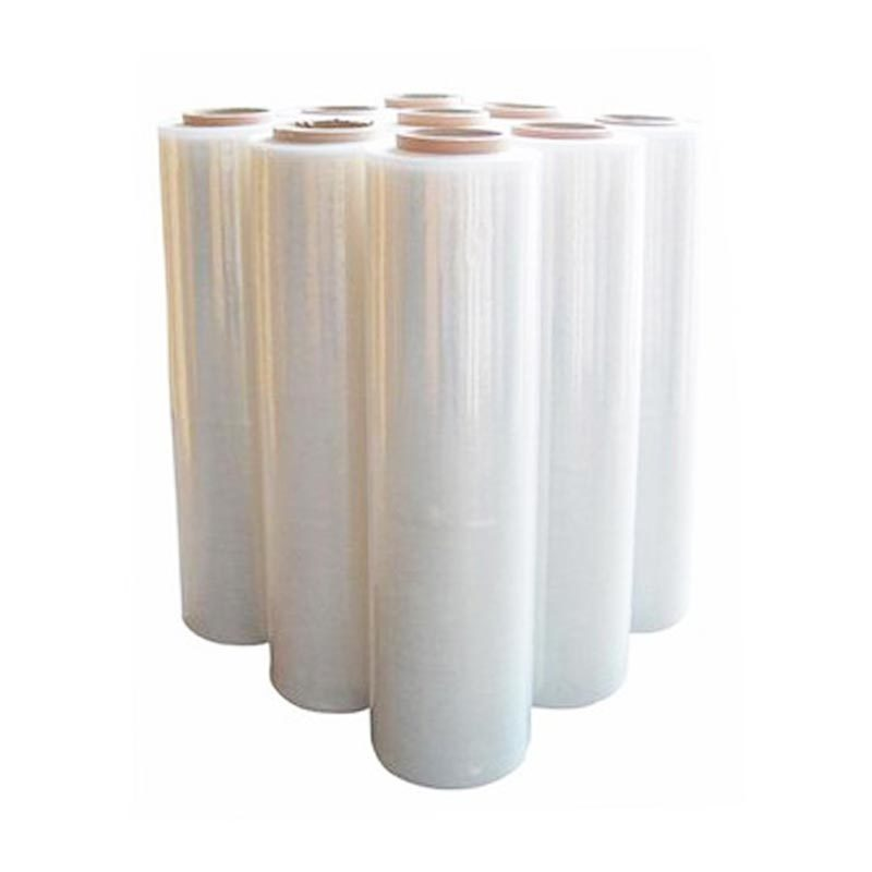Transparent and blue pe plastic Jumbo pallet wrap pe stretch film