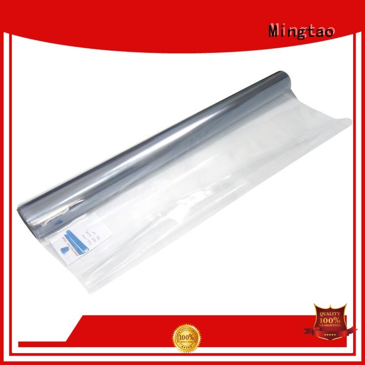 Mingtao waterproof white pvc sheet bulk production for table mat