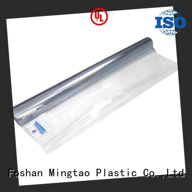 Mingtao High transparency transparent vinyl film supplier for table cover