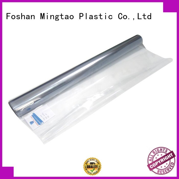 Mingtao High transparency clear pvc sheet customization for table cover