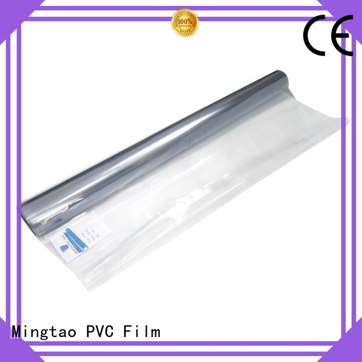 Mingtao solid mesh clear vinyl film ODM for table mat