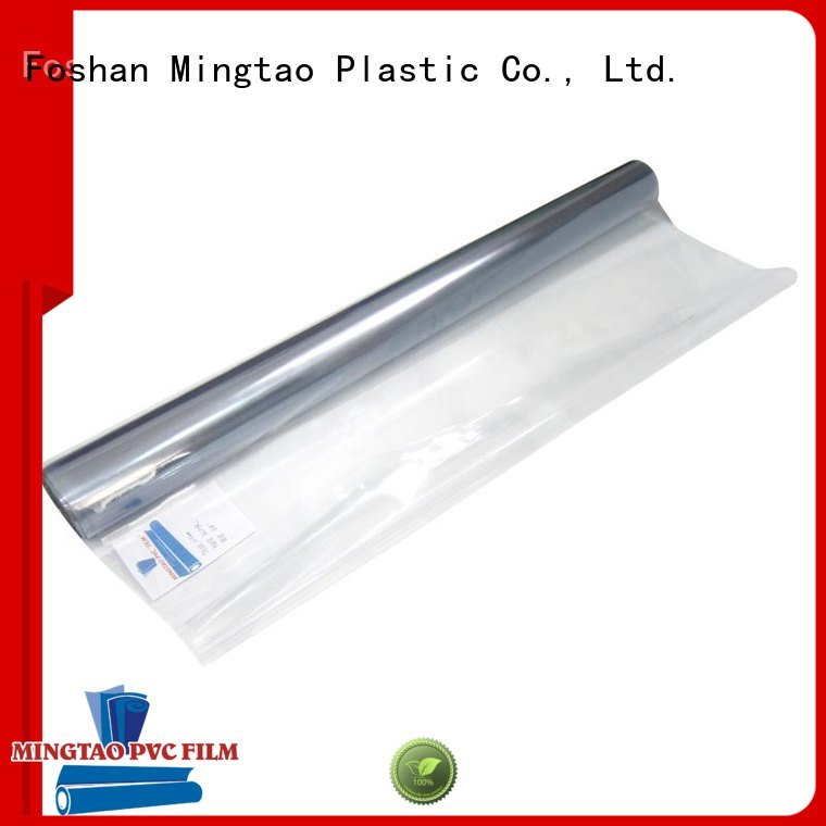 Mingtao latest clear pvc film transparent pvc film smooth surface for book covers