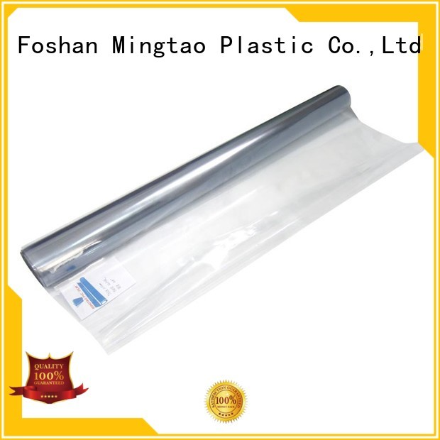 Mingtao durable clear pvc film transparent pvc film supplier for television cove