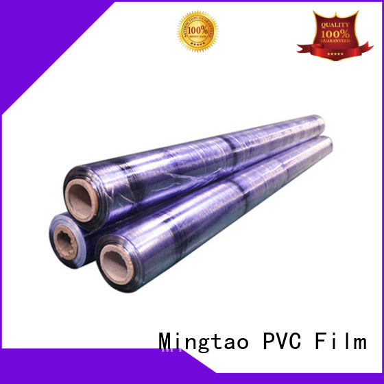 Mingtao funky pvc soft glass covering for table cover