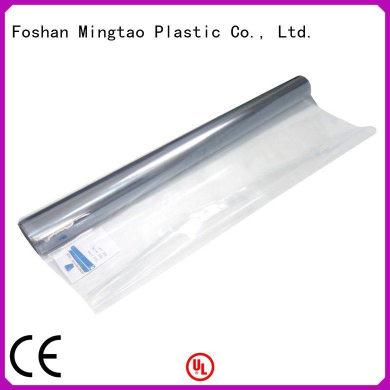 Mingtao Breathable clear pvc sheet non-sticky for book covers