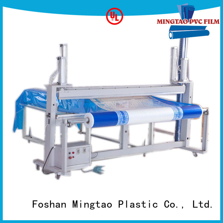 Mingtao at discount clear pvc film clear for table mat
