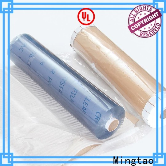 Mingtao film embossed pvc film supplier for packing