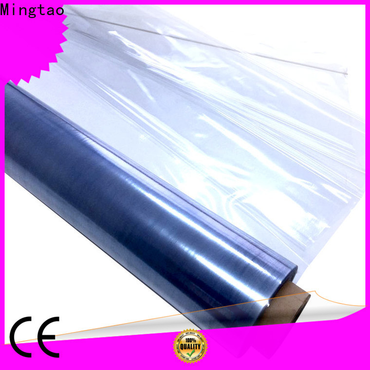 Mingtao Breathable clear pvc sheet roll OEM for table cover