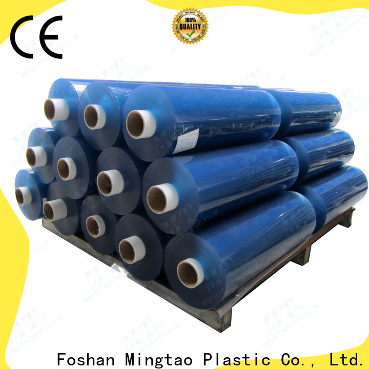 Mingtao blue printed pvc film for wholesale for table mat