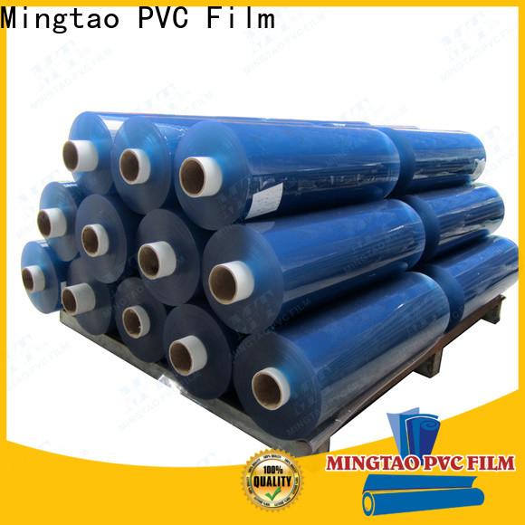 Mingtao blue clear plastic vinyl OEM for book covers