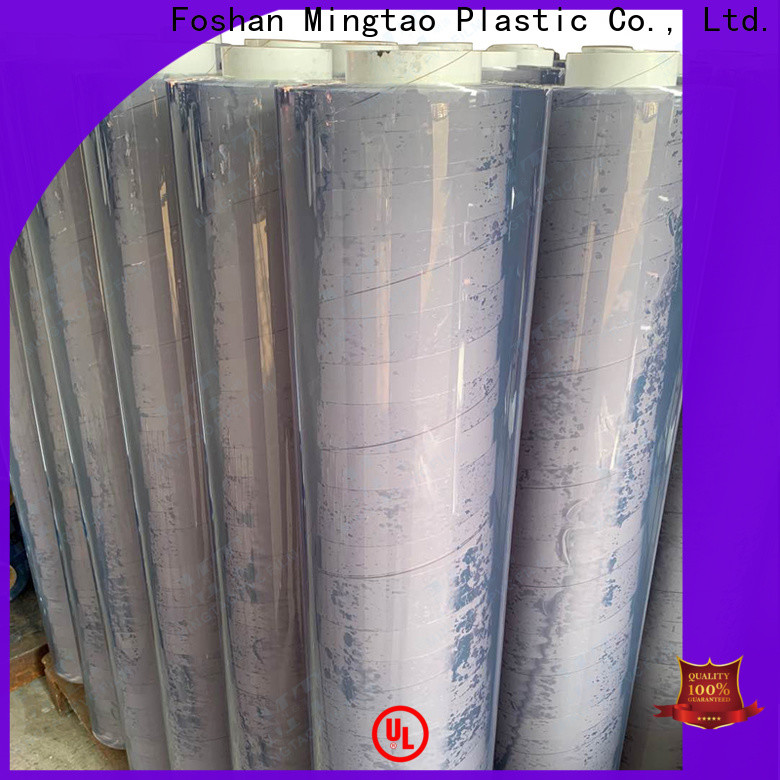 Mingtao soft super clear pvc film supplier for table mat