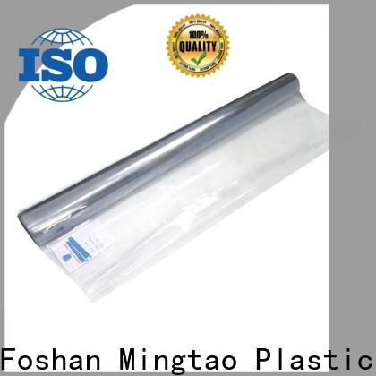 Mingtao High transparency flexible plastic sheet bulk production for television cove