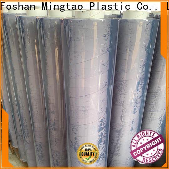 Mingtao flexible clear pvc sheet bulk production for television cove