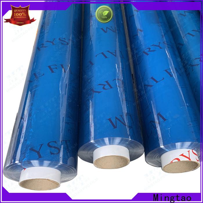 Mingtao high-quality transparent pvc film bulk production for table mat