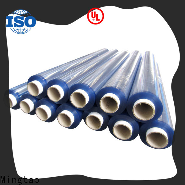 Mingtao smooth surface clear pvc film transparent pvc film ODM for table mat