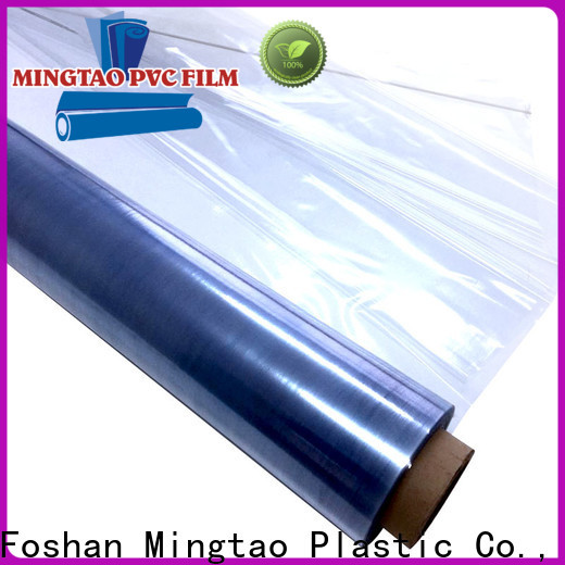 Mingtao High transparency clear pvc film bulk production for table cover