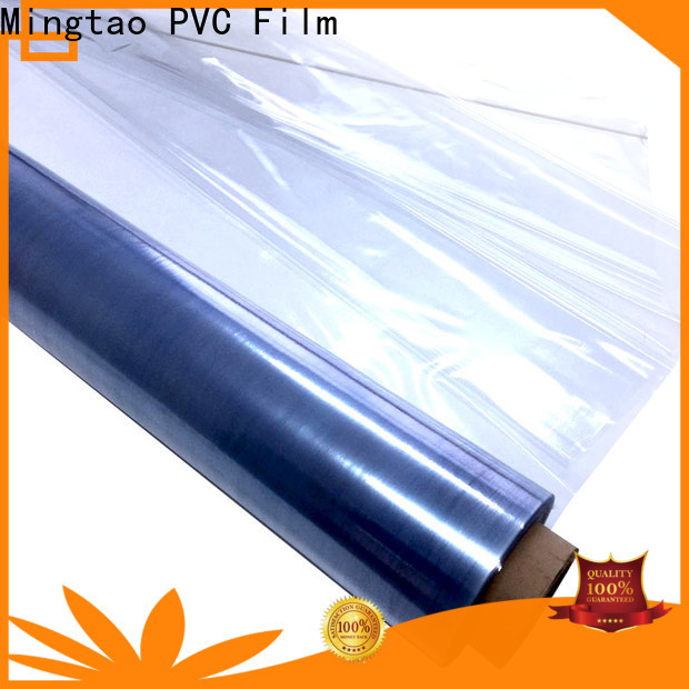 Mingtao non-sticky clear pvc sheet buy now for table mat