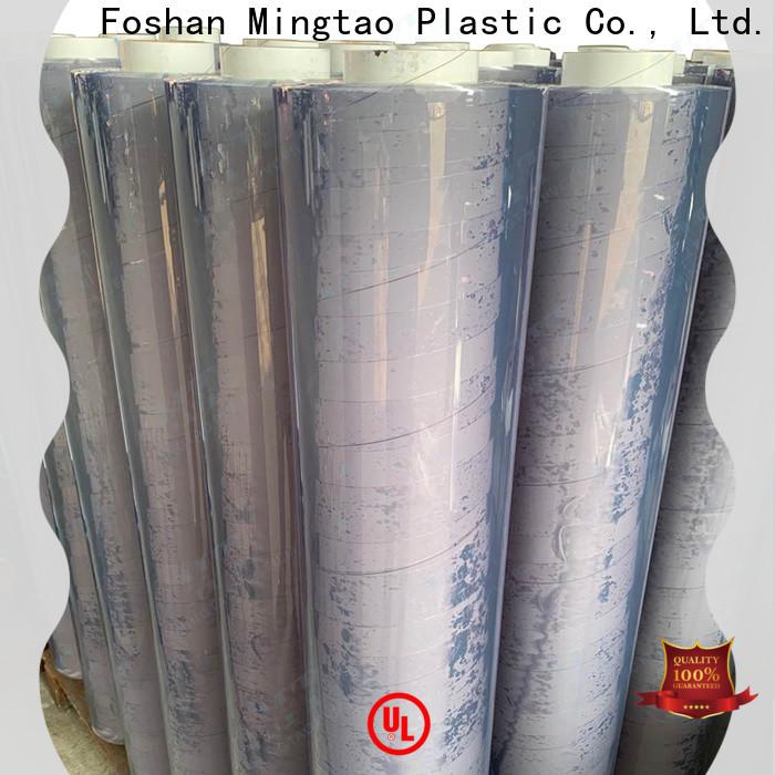 Mingtao pvc pvc plastic sheet roll ODM for table cover