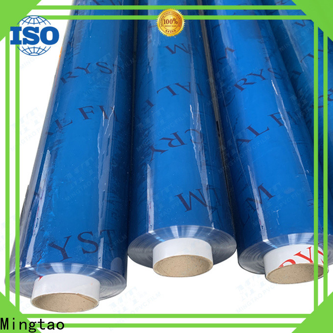 Mingtao pvc transparent plastic film supplier for book covers