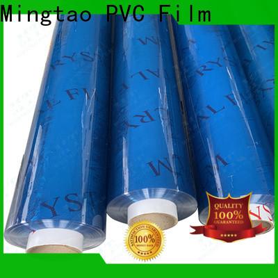 Mingtao funky clear pvc film plastic sheet rolls clear* pvc transparent sheet OEM for table mat