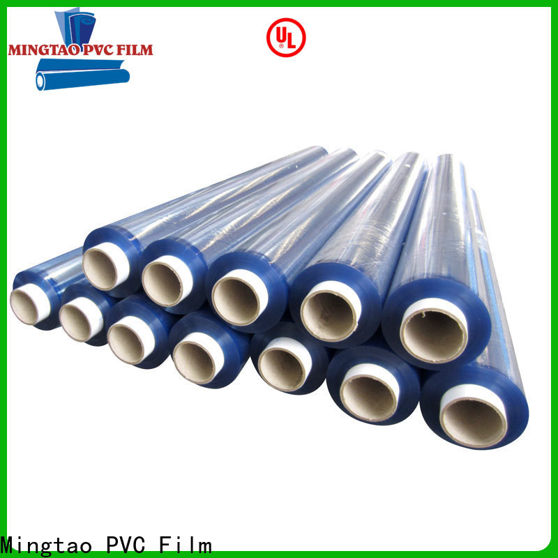 Mingtao solid mesh clear pvc film free sample for television cove