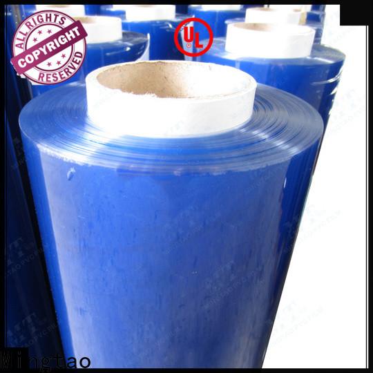 Mingtao vinyl clear blue plastic film supplier for book covers
