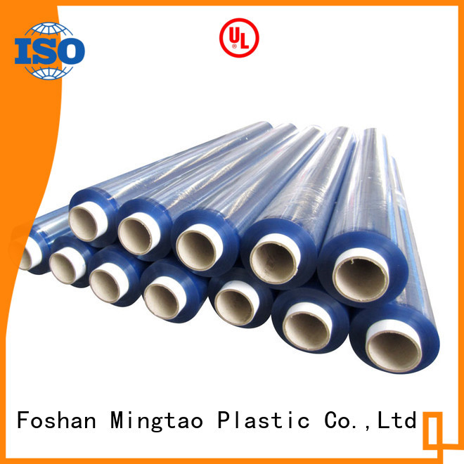 Mingtao non-sticky clear pvc sheet roll ODM for table mat
