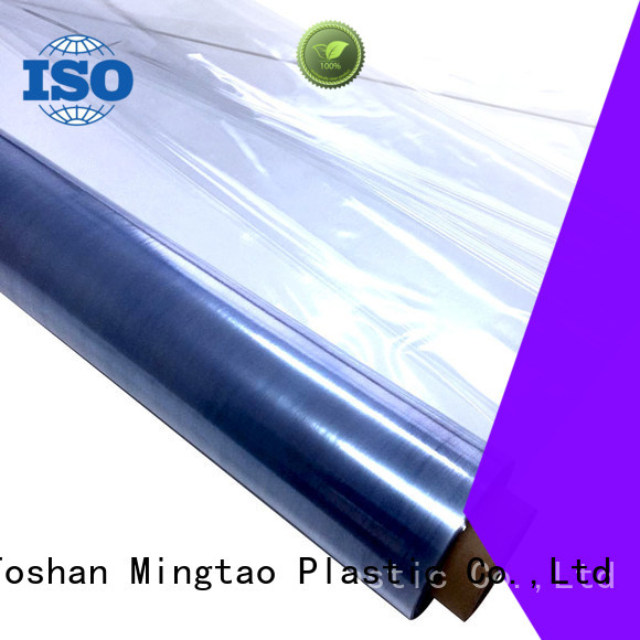 Mingtao waterproof clear pvc film transparent pvc film buy now for television cove