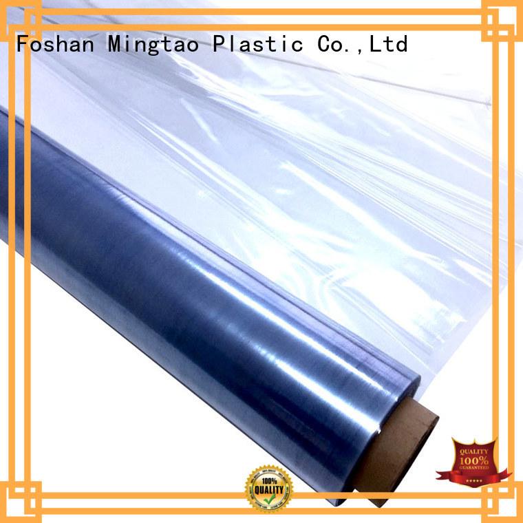 Mingtao waterproof clear pvc film transparent pvc film customization for table mat
