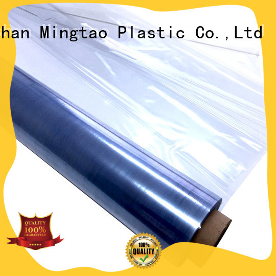 Mingtao durable pvc clear plastic rolls OEM for book covers