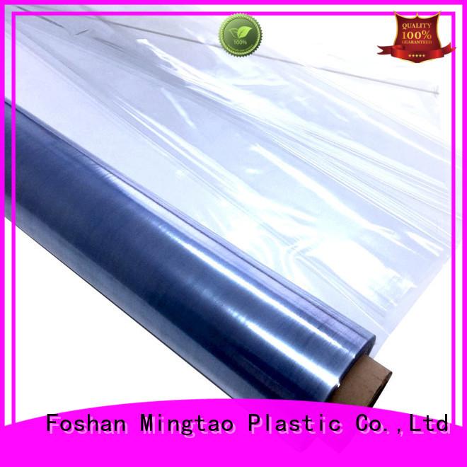 Mingtao latest pvc transparent sheet OEM for book covers