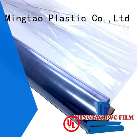 Mingtao High quality PVC clear pvc film transparent pvc film free sample for table mat