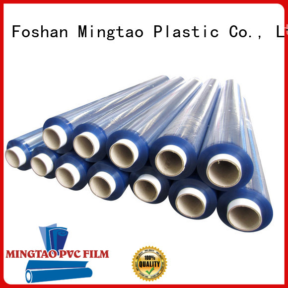 Mingtao High transparency clear pvc film transparent pvc film OEM for table cover