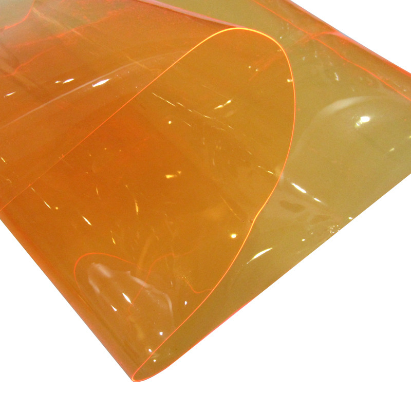 flexible colored transparent clear pvc film