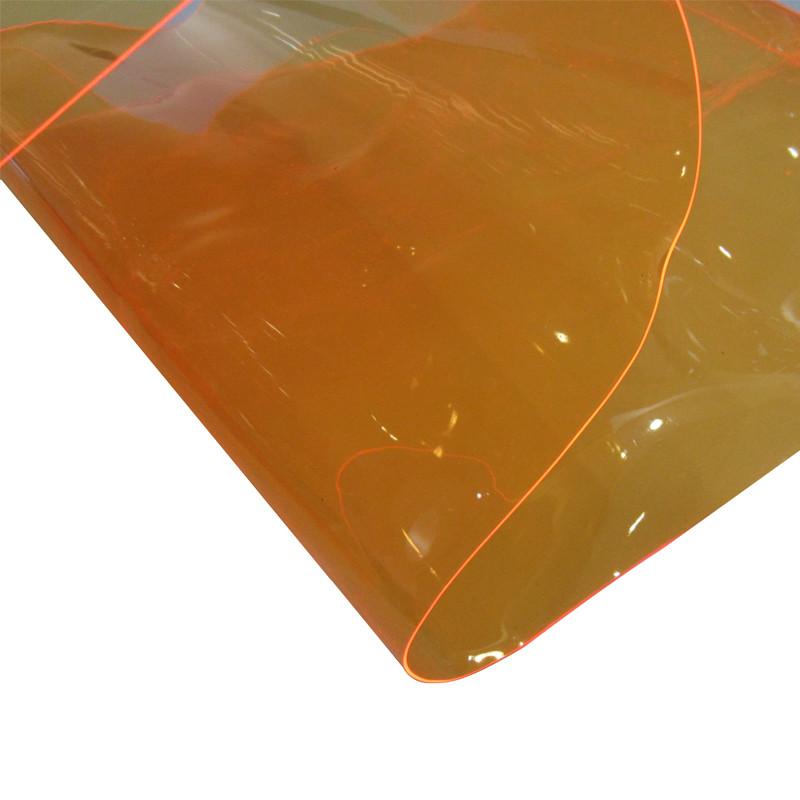 flexible colored transparent clear pvc film