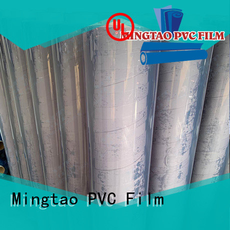 Mingtao transparent pvc film roll suppliers OEM for packing