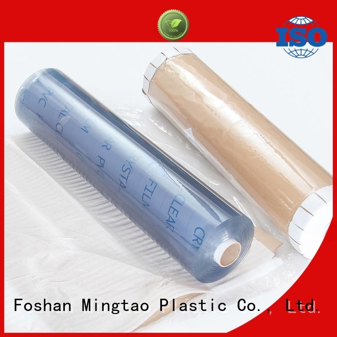 Mingtao portable clear pvc film plastic sheet rolls clear* pvc transparent sheet ODM for packing