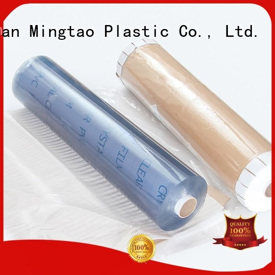Mingtao funky clear pvc film plastic sheet rolls clear* pvc transparent sheet OEM for table mat