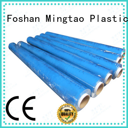Mingtao blue pvc super clear film* bulk production for table mat